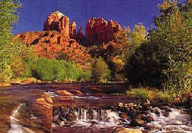 View from the Stream that Runs at The Base of Cathedral Rock {Sedona, Arizona}