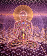 Representation of Higher-Dimensional Energy Body of Individualized Human - In Alignment {Artwork: Alex Gray}